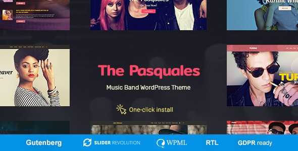 The Pasquales 1.0.5 – Music Band, DJ and Artist WP Theme