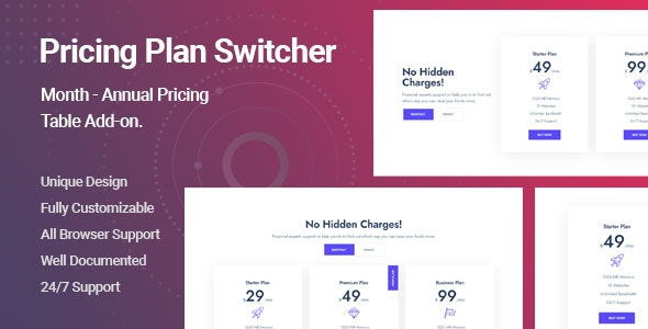 Ultimate Pricing Plan Switcher Addon for Elementor v1.0.0