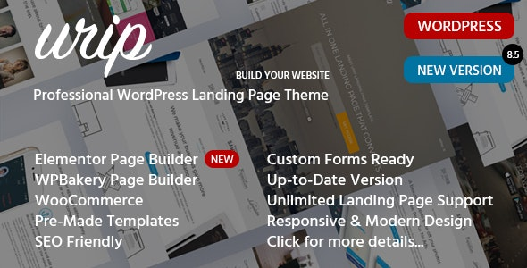 Urip 8.6.3 – Landing Page WordPress Theme