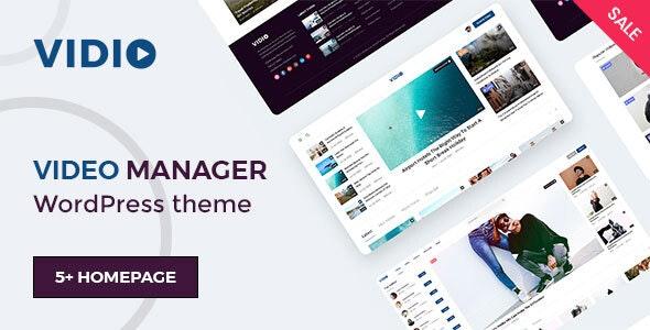 Vidio 1.1.8 – Video Manager WordPress theme