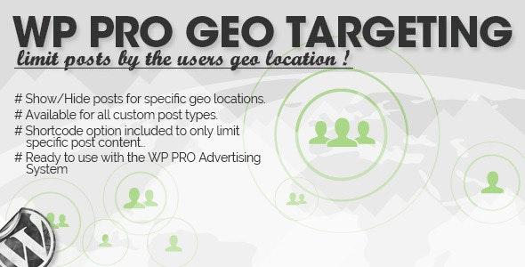 WP Pro Geo Targeting v1.1.9
