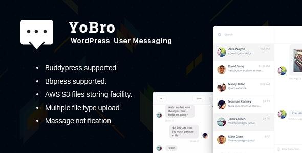 YoBro 2.3 – WordPress Private Messaging Plugin