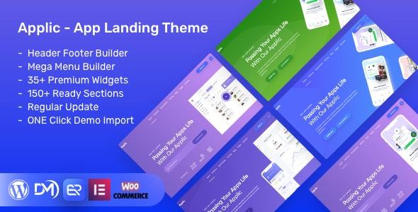 Applic 1.4.0 – App Landing WordPress Theme