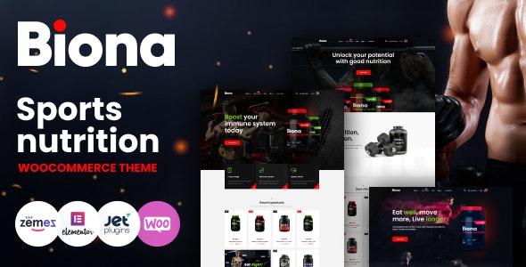 Biona 1.0.12 – Sports Nutrition WooCommerce Theme