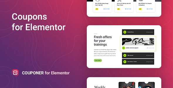 Couponer 1.1.2 – Discount Coupons for Elementor