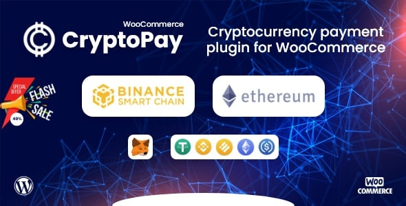 CryptoPay WooCommerce 1.0.0 – Cryptocurrency payment plugin