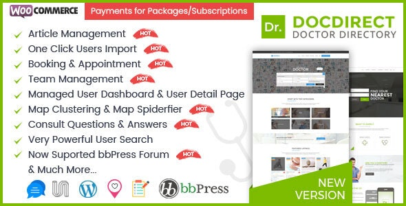 DocDirect 8.1.1 – WordPress Theme for Doctors and Healthcare Directory
