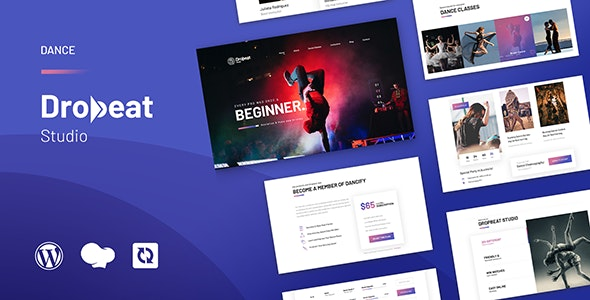 Dropbeat 1.0 – Creative Dance Studio WordPress Theme