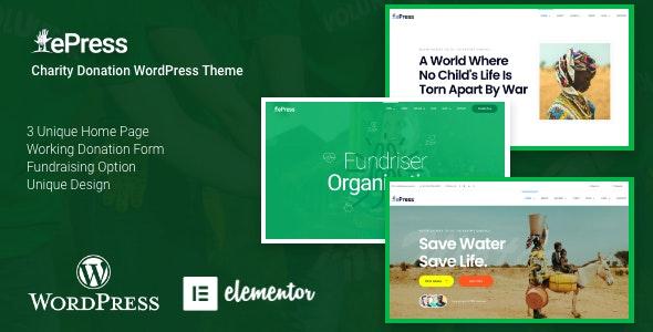ePress 2.0.0 – Nonprofit Charity WordPress Theme
