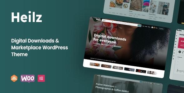 Heilz 1.0.0.3 – Digital Downloads & Marketplace WordPress Theme