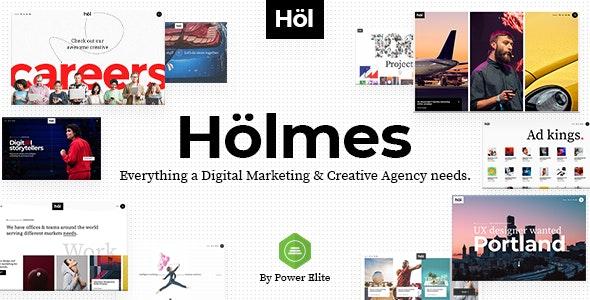 Holmes 1.3.2 – Digital Agency Theme