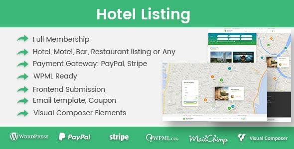Hotel Listing 1.3.3 – WordPress Plugin
