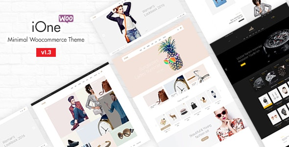 iOne 3.0.2 – Minimal Responsive WooCommerce Theme