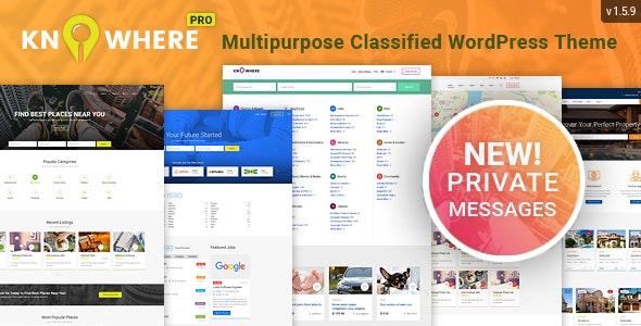 Knowhere Pro 1.5.6 – Multipurpose Classified Directory WordPress Theme
