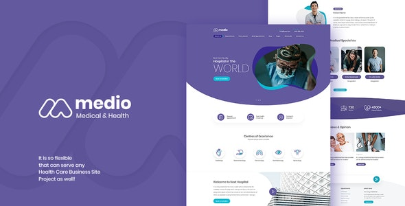 Medio 1.5 – Medical Organization WordPress Theme