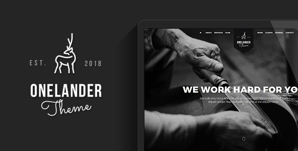 OneLander 2.4.13 – Creative Landing Page WordPress Theme