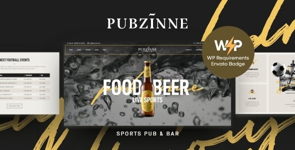 Pubzinne 1.0.1 – Sports Bar WordPress Theme