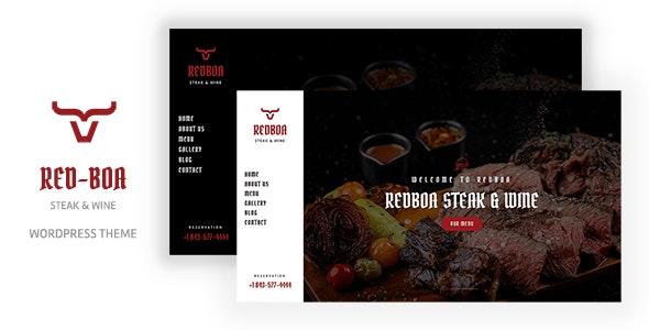 Redboa 1.0 – Steakhouse Restaurant WordPress