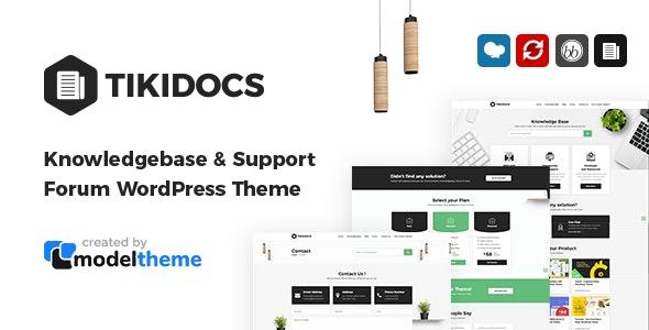 Tikidocs 2.1 – Knowledgebase & Support Forum WordPress Theme + RTL
