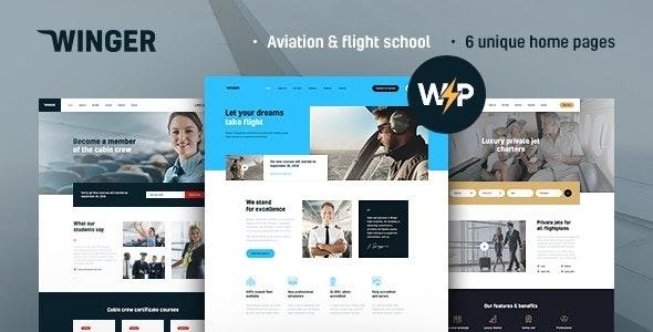 Winger 1.0.5 – Aviation & Flight School WordPress Theme