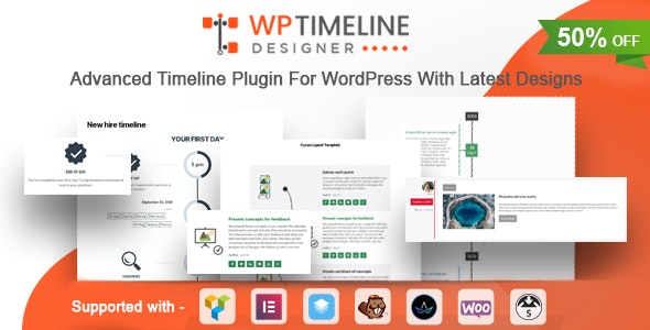 WP Timeline Designer Pro 1.3 – WordPress Timeline Plugin